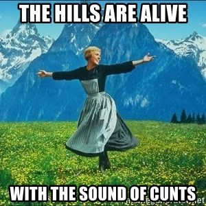 Look at all the things - the hills are alive with the sound of cunts