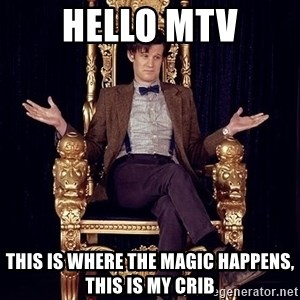 Hipster Doctor Who - hello mtv this is where the magic happens, this is my crib