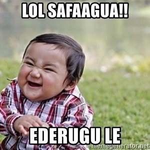 evil asian plotting baby - lol safaagua!! ederugu le