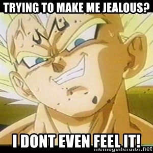 Vegeta-New - Trying to make me Jealous? I Dont Even Feel it!