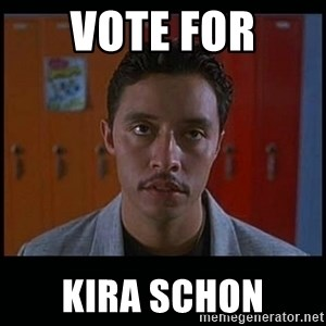 Vote for pedro - Vote for kira Schon