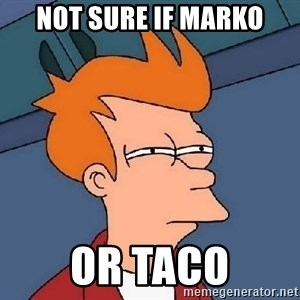 Confused Fry - not sure if Marko or taco