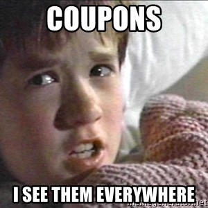 The Sixth Sense Kid - Coupons I see them Everywhere