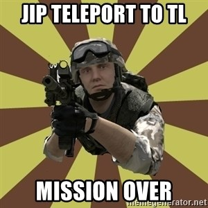 Arma 2 soldier - JIP teleport to tl mission over