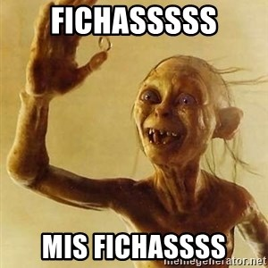 Gollum with ring - FICHASSSSS MIS FICHASSSS