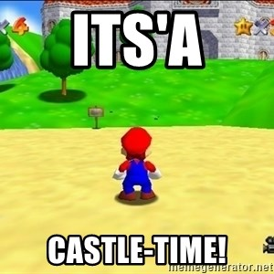 Mario looking at castle - ITs'a CASTLE-Time!