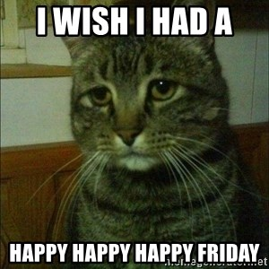 Depressed cat 2 - I wish I HAD A  HAPPY HAPPY HAPPY FRIDAY