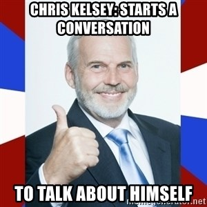 Idiot Anti-Communist Guy - chris kelsey: starts a conversation to talk about himself