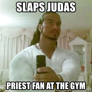 Guido Jesus - slaps Judas Priest fan at the gym