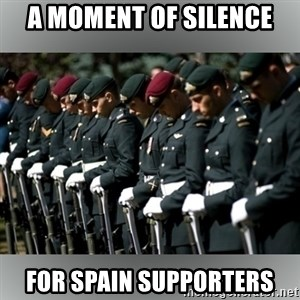 Moment Of Silence - A moment of silence for spain supporters