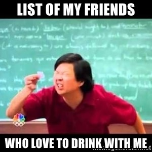 mr chow!haha!  - List of my friends who love to drink with me