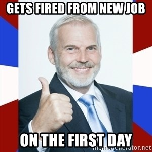 Idiot Anti-Communist Guy - gets fired from new job on the first day