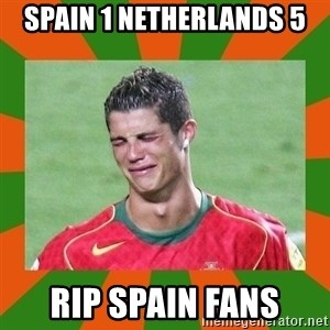 cristianoronaldo - spain 1 netherlands 5 Rip spain fans