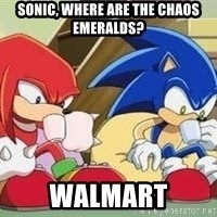 sonic - sonic, where are the chaos emeralds? walmart