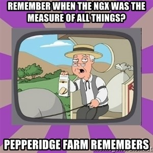 Pepperidge Farm Remembers FG - remember when the NGX was the measure of all things? pepperidge farm remembers