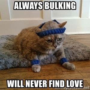 Exercise Cheeseburger - Always bulking Will never find love