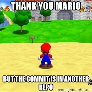 Mario looking at castle - thank you mario  but the commit is in another repo