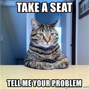Chris Hansen Cat - Take a seat Tell me your problem