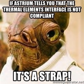 Its A Trap - if astrium tells you that the thermal elements interface is not compliant it's a strap!