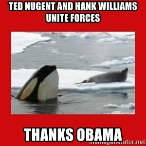 Thanks Obama! - Ted Nugent and Hank Williams unite forces Thanks Obama