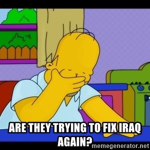 Homer Facepalm -  ARE THEY TRYING TO FIX IRAQ AGAIN?