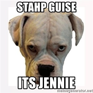 stahp guise - STAHP GUISE ITS JENNIE