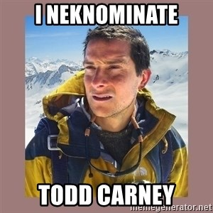 Bear Grylls Piss - I neknominate Todd Carney