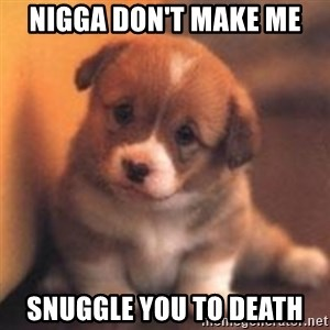 cute puppy - nigga don't make Me snuggle you to death