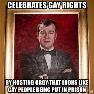 Douchey Dom - CELEBRATES GAY RIGHTS BY HOSTING ORGY THAT LOOKS LIKE GAY PEOPLE BEING PUT IN PRISON
