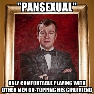 """Douchey Dom - """"pansexual"""" only comfortable playing with other men co-topping his girlfriend"""