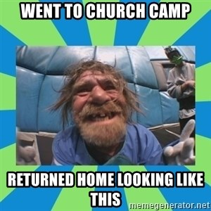 hurting henry - went to church camp returned home looking like this