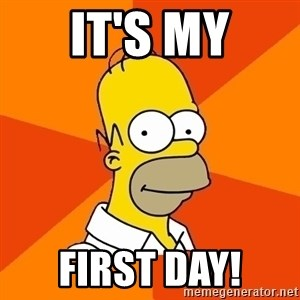 Homer Advice - IT'S MY FIRST DAY!