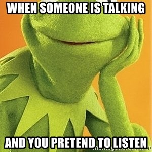 Kermit the frog - When someone is talking And you pretend to listen
