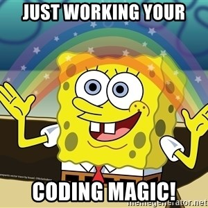 Spongebob Squarepants Imagination - Just working your coding magic!