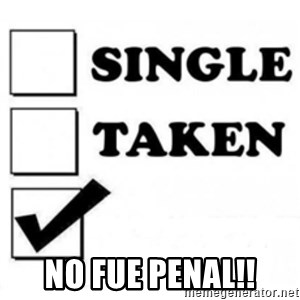 single taken checkbox -  no fue penal!!