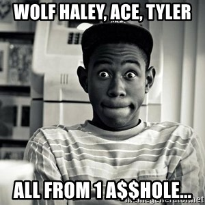 Tyler the Creator - WOLF HALEY, ACE, TYLER ALL FROM 1 A$$HOLE...