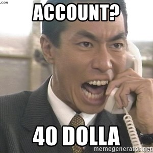 Chinese Factory Foreman - account? 40 DOLLA