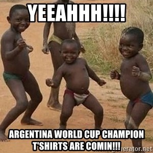 Dancing african boy - Yeeahhh!!!! Argentina World Cup champion t'shirts are comin!!!
