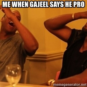 Kanye and Jay - Me when gajeel says he pro