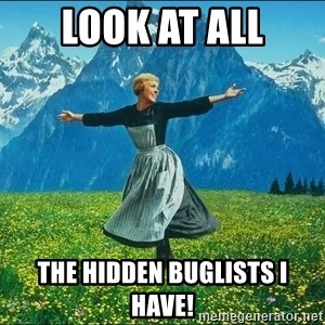 Look at all the things - Look At ALL The HIDDEN BUGlISTS i HAVE!