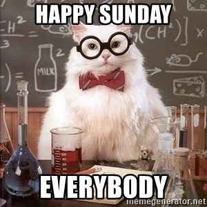 Chemistry Cat - Happy Sunday Everybody