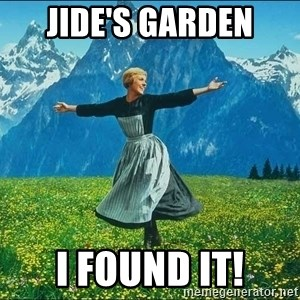 Look at all the things - Jide's garden I found it!
