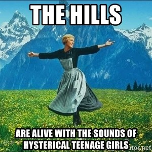 Look at all the things - the hills  are alive with the sounds of hysterical teenage girls