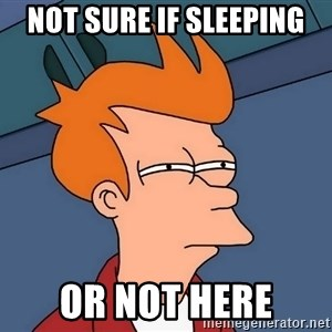Futurama Fry - not sure if sleeping or not here