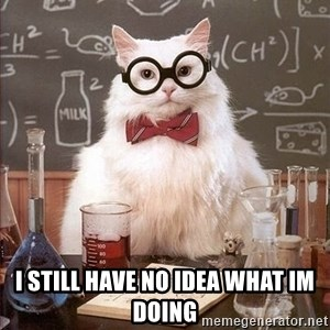 Chemistry Cat -  i still have no idea what im doing