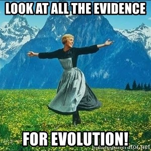 Look at all the things - look at all the evidence for evolution!