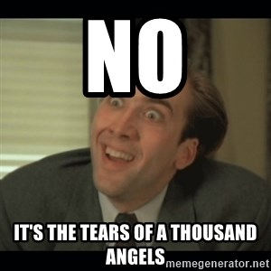Nick Cage - No It's the tears of a thousand angels