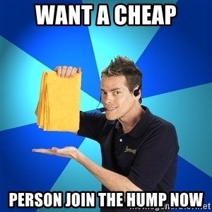Shamwow Guy - WANT A CHEAP person join the hump now