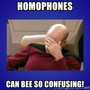 Picard facepalm  - Homophones can bee so confusing!