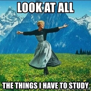 Look at all the things - LOOK AT ALL THE THINGS I HAVE TO STUDY